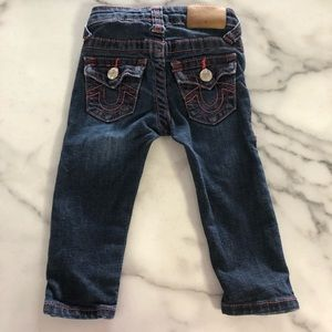 VGUC size 12 month girls True Religon Jeans